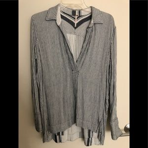 Free People Striped Blouse